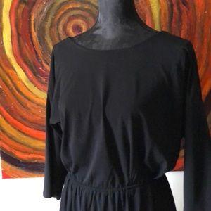 BCBG black dress with V back